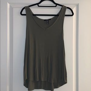 Forever 21 basic army green tank top!